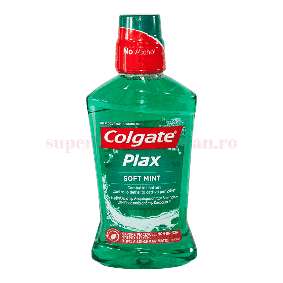 colgate apa de gura plax soft mint 500ml