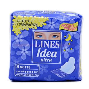 Absorbante Lines Idea Ultra 8 bucăți 8001480032361