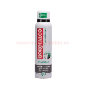 Deodorant Antiperspirant Borotalco Invisible cu Microtalc Anti-Pete
